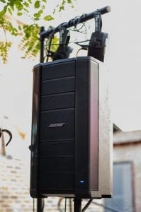 MC Productions equipment - Bose speakers and subwoofers